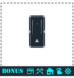 Billiards icon flat vector