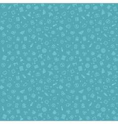 Blue Seamless Medical Pattern vector