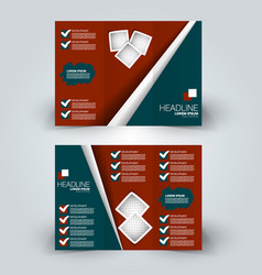 brochure mock up design template vector image