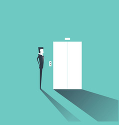 businessman waiting for the elevator vector image