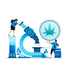 Cannabis research and development ganja for vector