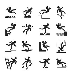 caution symbols set vector image
