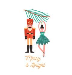 Christmas tree decorations flat vector