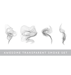 Collection or set realistic cigarette smoke or vector
