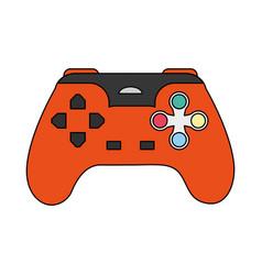 color image cartoon control video games vector image