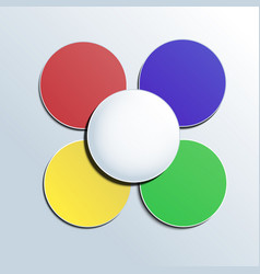 colorful button on white background for any vector image