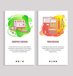 Computer equipment graphic and web design vector