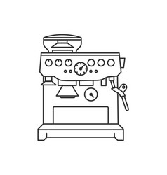 concept of coffee machine vector image