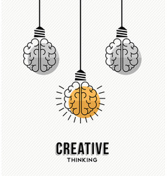 Creative thinking at work concept vector