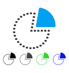 Dotted pie chart flat icon vector