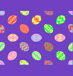 easter eggs seamless pattern happy easter vector image