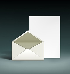 Envelope and a sheet of paper vector image