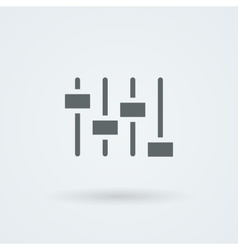 equalizer icon Music sound wave symbol vector image