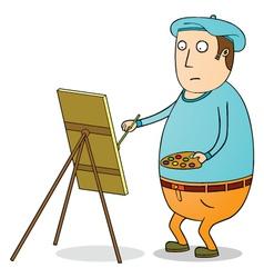 fat painter vector image