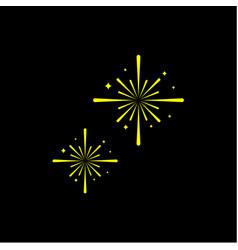 Firework template design vector