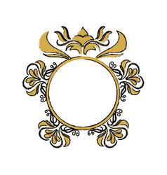 Floral frame border decorative design element and vector