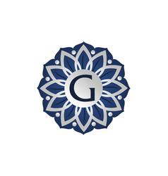 flower elegant icon initial g vector image