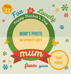 For a lovely Mum greeting card flat design vector