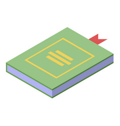 Fortune teller book icon isometric style vector