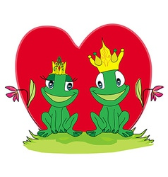 frogs in love vector image