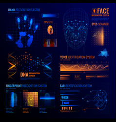 Futuristic identification interfaces background vector