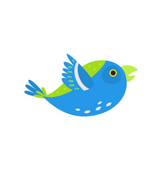 green blue bird parrot flying in zoo big cage vector image