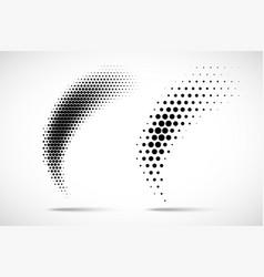halftone circle dots gradient curve pattern vector image