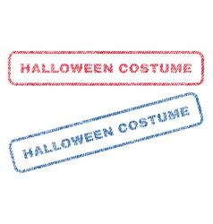 Halloween costume textile stamps vector