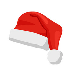 hat of santa claus closeup vector image
