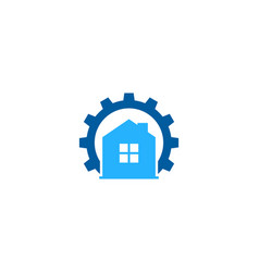 home fix and repair logo icon design vector image