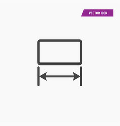 Image resize enlarge icon with arrows vector