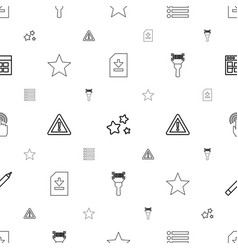Interface icons pattern seamless white background vector
