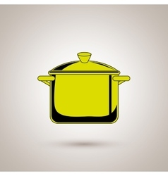 Kitchen pot design vector