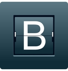 Letter B from mechanical scoreboard vector
