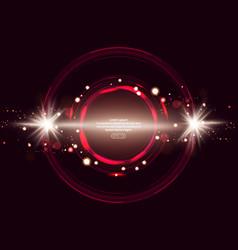 Luminous electric circle lightning atmospheric vector