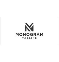 m mg or mf monogram logo design template vector image