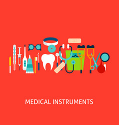 medical instruments concept vector image
