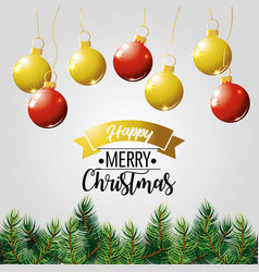 Merry christmas holiday poster decoration vector