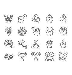 Mindset icon set vector