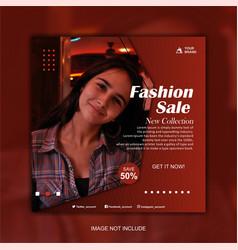 minimalist fashion sale promotion banner vector image