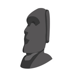 Moai sculpture from easter island culture vector
