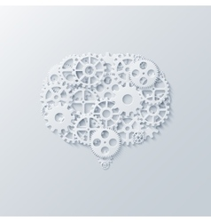 Modern concept bubble speech and gears vector