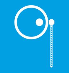 Monocle icon white vector