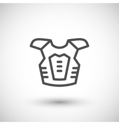 Motorcycle protector line icon vector image