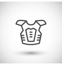 Motorcycle protector line icon vector