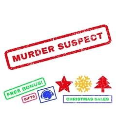 Murder Suspect Rubber Stamp vector