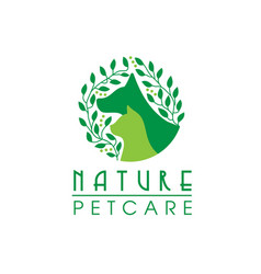 Natural pet care logo vector