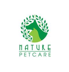 Natural pet care logo vector
