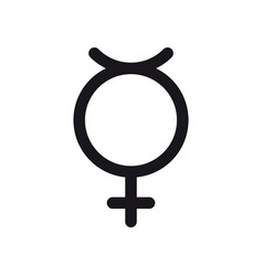 non binary transgender symbol gender and sexual vector image