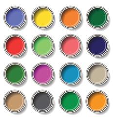 Oil paints vector